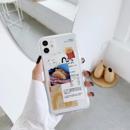 [READY STOCK] Mcdonald Mcd Mekdi Burger Casing Iphone 11 12 Pro Max XS MAX XR X 6 6s 8 7 Plus Silicon Soft Case Trend