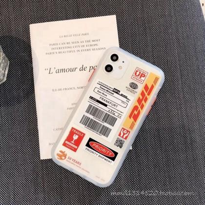 [READY STOCK]DHL Casing Iphone 12 11 Pro Max XS MAX XR X 6 6s 8 7 Plus Matte Silicon Soft Case Transparent Design Trend