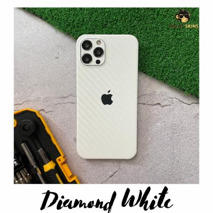 Mojoskins 3M Carbon Fiber : White - Iphones